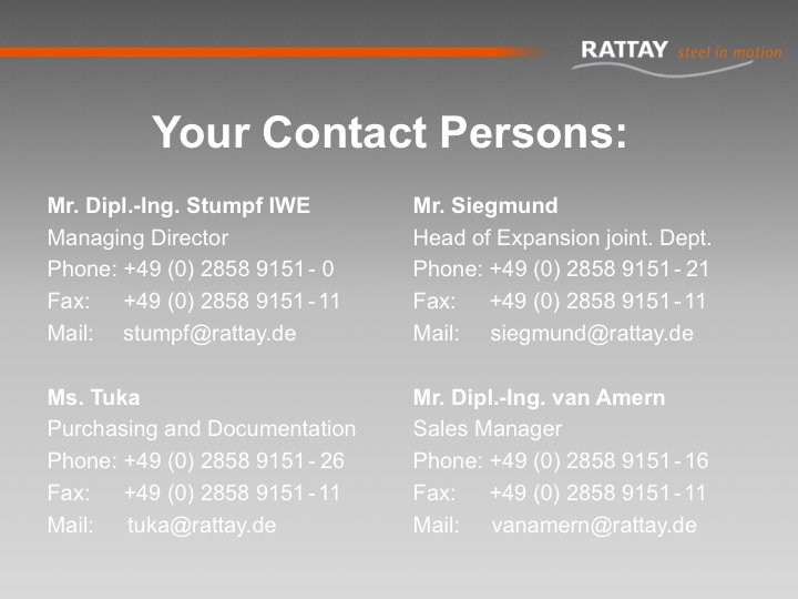 Your Contact Persons