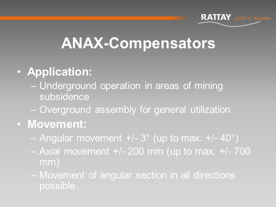 ANAX-Compensators: Application & Movement